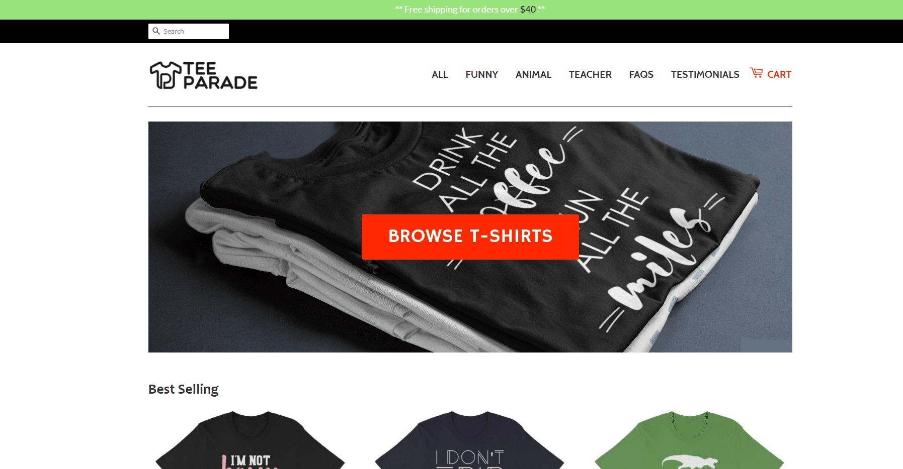 T-shirt business, Web site