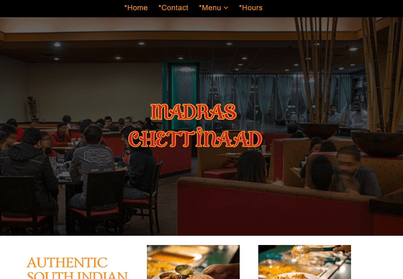 Restaurant, Web site #1