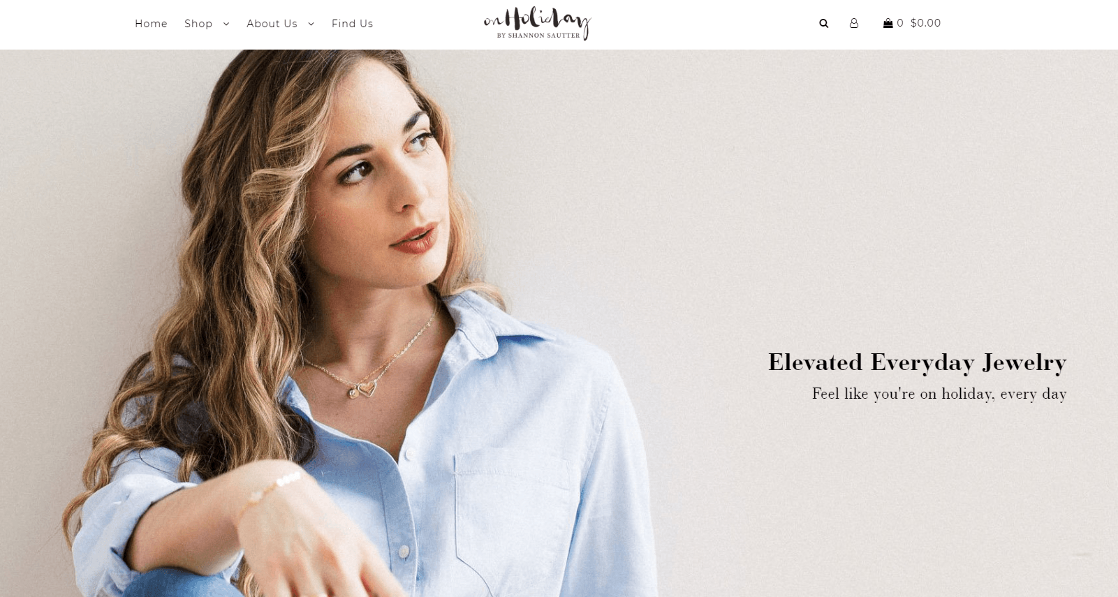 Jewelry online store, Web site #3