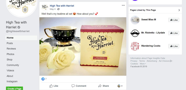Tea webshop, Facebook #2