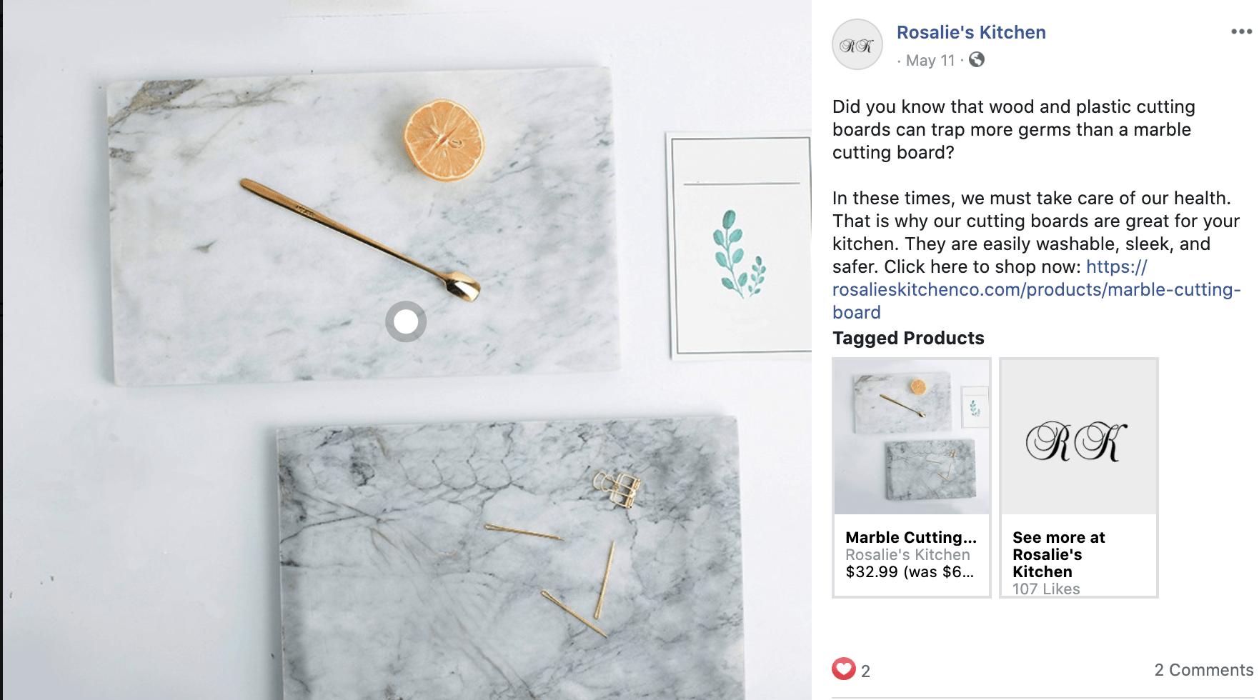E-com kitchen supplies FB post #3