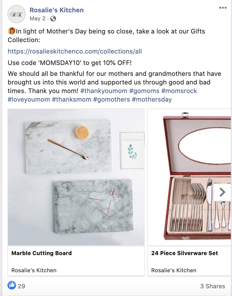 E-com kitchen supplies FB post #2